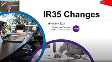 Webinar: IR35 changes front page